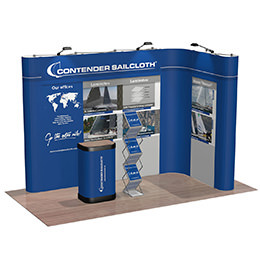 Premium, pop-up frame based corner exhibition stand