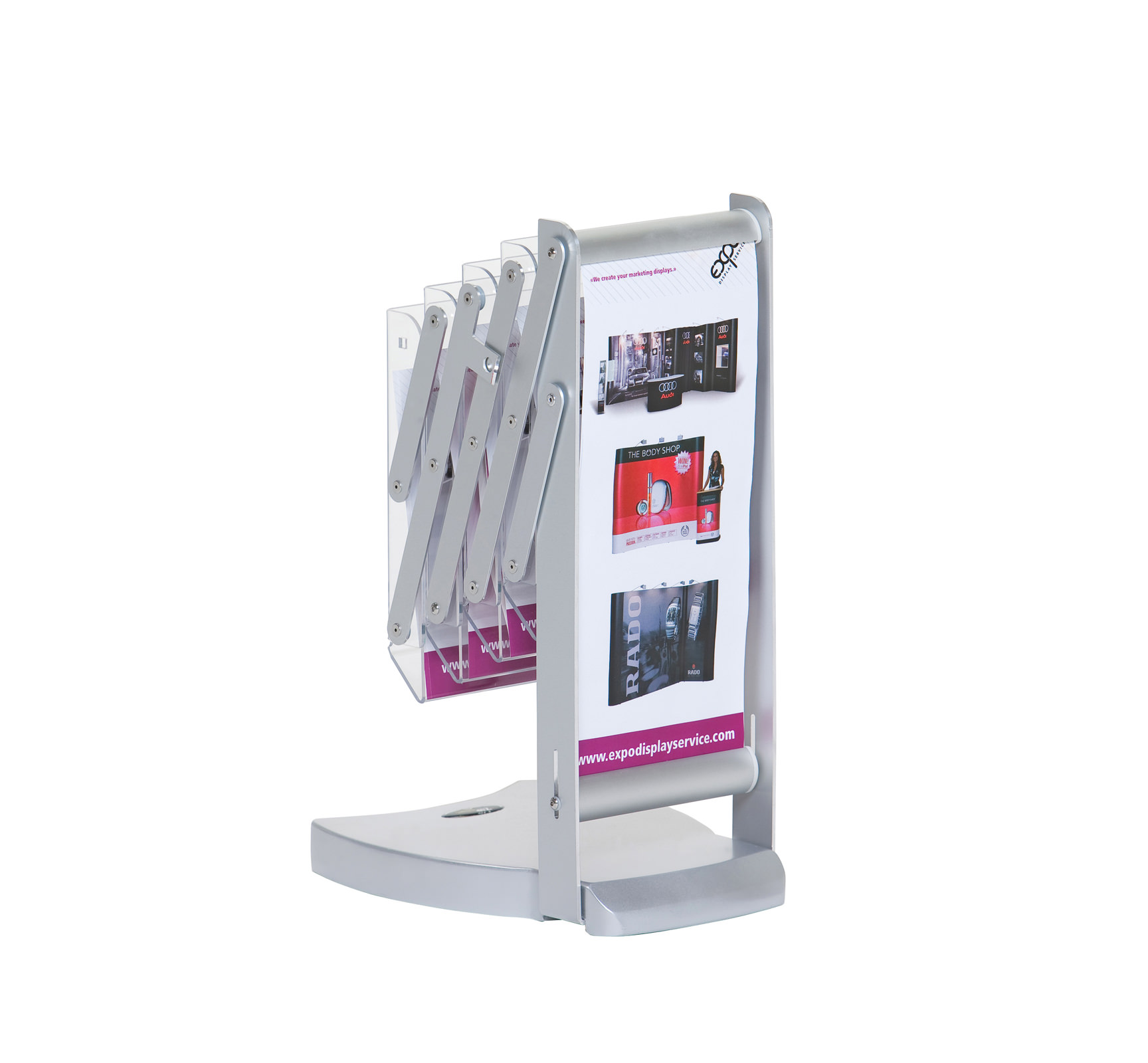 Portable Expo Stands : A size foldable brochure holder expo display service